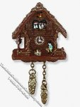 Miniature Traditional Black Forest Cuckoo Clock for Dollhouses