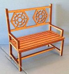 Miniature Patio Bench Kit for Dollhouses