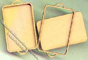 Miniature Two Tray Kit for Dollhouses