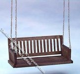 Miniature Walnut Porch Swing for Dollhouses