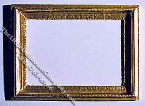 Miniature Gold Coloured Rectangular Picture Frame for Dollhouses