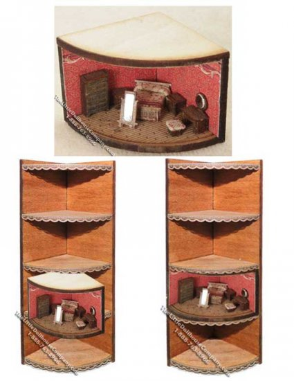 "Corner Display Kit for 1/144"" Scale Wedge Roombox - Click Image to Close"