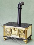 Miniature Old Fashioned Wood Stove for Dollhouses