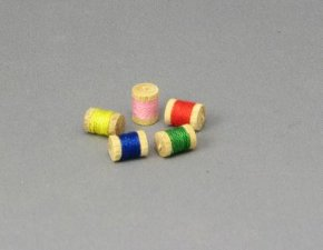 Dollhouse Scale Model Spools of Thread