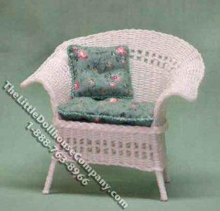Miniature Victorian Wicker Chair Kit for Dollhouses
