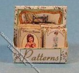 Miniature Sewing Pattern Box Kit for Dollhouses