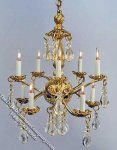 Dollhouse Scale Model Cotillion Chandelier
