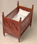 Miniature Ashley Spice Crib for Dollhouses