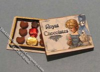 Miniature Royal Chocolate Box Kit for Dollhouses
