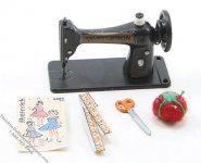 Miniature Sewing Machine Set For Dollhouses