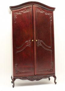 Miniature Mahogany Notions Armoire
