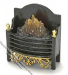 Miniature Metal Electric Fireplace for Dollhouses