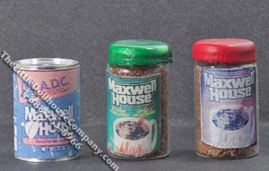 Miniature Coffee Can/Jar for Dollhouses (1/pk)