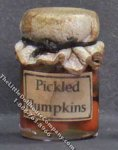 Dollhouse Scale Model Homemade Pickled Pumpkin in Wax Sealed Jar