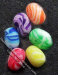 Miniature Loose Coloured Eggs for Dollhouses (6/pk)