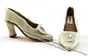 Miniature Leather Ladies Shoes by Judith Blondell for Dollhouses