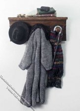 Coat & Hat on Rack by Bette Jo Chudy for Dollhouses