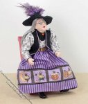 Old Woman/Witch Dressed for Halloween by Patsy Thomas