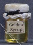 Dollhouse Scale Model Homemade Golden Syrup in Wax Sealed Jar