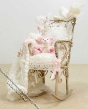 Miniature Dressed Rocking Chair by Danielle Designs