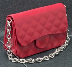 Miniature Red Purse for Dollhouses