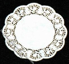 Miniature Multi-Scale Set of 2 Small Lace Doilies for Dollhouses