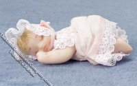 Infant Doll Sleeping for Dollhouses