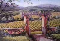 Tuscan Garden Scene Miniature Mural for Dollhouses