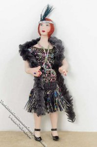 Red Haired Woman Wearing a Flapper Outfit by Patsy Thomas