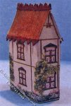 Miniature Lithographed Country House Kit for Dollhouses