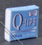 Miniature Cotton Swabs Box for Dollhouses