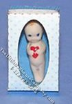 Miniature Kewpie Doll in a Blue Box Kit for Dollhouses