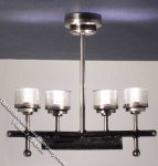 Miniature 4 Bulb Battery Operated Ceiling Light for Dollhouses