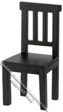 Miniature Black Benson Chair for Dollhouses