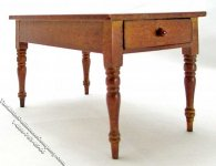 Miniature Small Walnut Country Table for Dollhouses