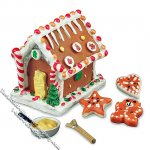 Miniature Gingerbread House Set for Dollhouses