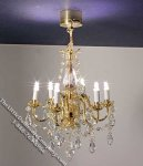 Miniature Battery Operated 6-Arm LED Chandelier for Dollhouses