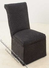 Miniature Black Parsons Chair for Dollhouses