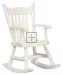 Colonial Boston Rocker White