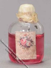 Dollhouse Scale Model Jar of Rose Water