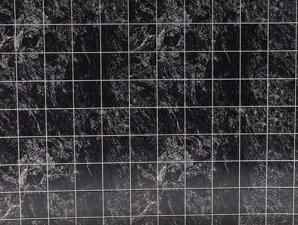 Miniature No Wax Floor Tile, Black