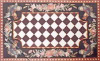 Dollhouse Scale Model Farm Theme Rug