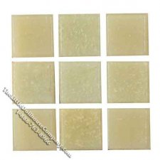 Dollhouse Scale Beige Glass Mosaic Tile Sheet(Discontinued)