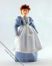 Anni Flexible Doll in Maid Uniform by Erna Meyer for Dollhouses