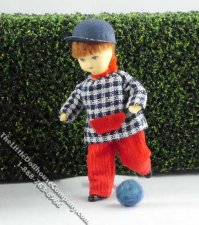 Nils Flexible Boy Doll by Erna Meyer for Dollhouses