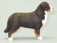 Dollhouse Scale Model Bernese Mountain Dog by Karl Blindheim