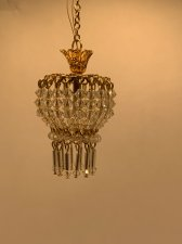 1/12 Scale Petite Hanging Chandelier With Lower Tassels