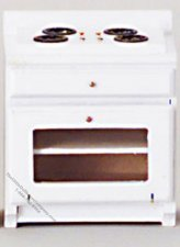 Miniature White Kitchen Stove For Dollhouses