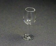 Dollhouse Scale Model Red Wine Glass