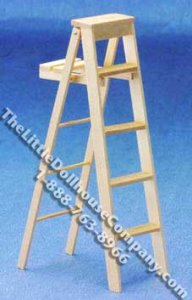 Miniature 5inch Stepladder for Dollhouses